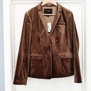 J. Crew brown velvet Regent blazer NWT